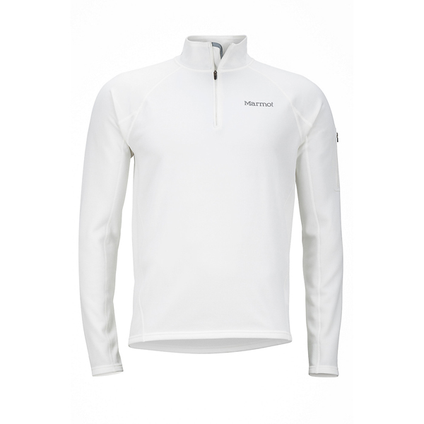 Men Marmot Stretch Fleece 1/2 Zip Soft White Outlet Online